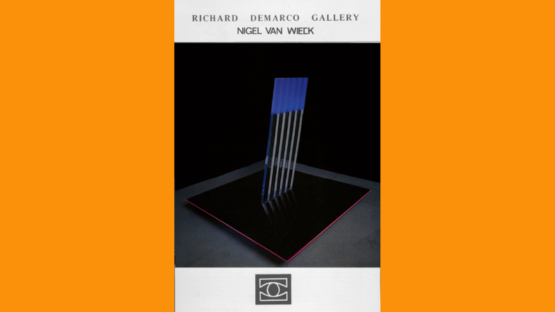 Nigel Van Wieck, Richard Demarco Gallery, Edinburgh